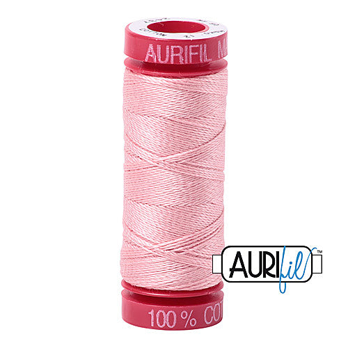 Aurifil Mako 12wt Cotton 50 m (54 yd.) spool - 2437 Light Peony<br><font color = red>Please note, that this colour in this size is not available in-store, but will be ordered for you.</font>