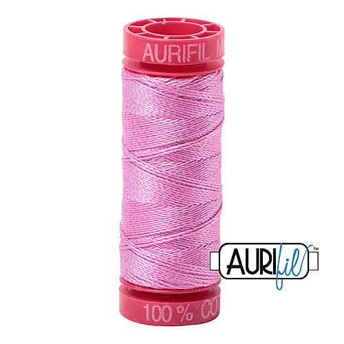 Aurifil Mako 12wt Cotton 50 m (54 yd.) spool - 2479 Medium Orchid<br><font color = red>Please note, that this colour in this size is not available in-store, but will be ordered for you.</font>