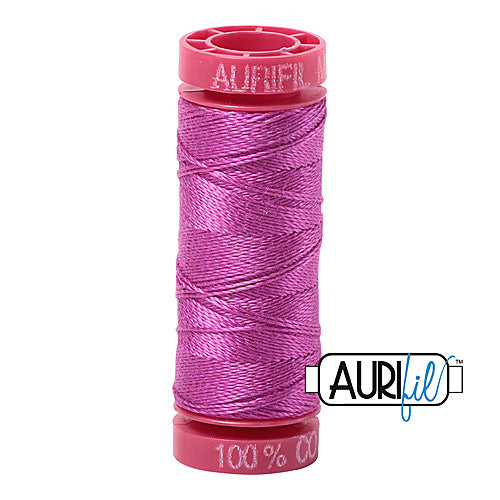 Aurifil Mako 12wt Cotton 50 m (54 yd.) spool - 2535 Magenta<br><font color = red>Please note, that this colour in this size is not available in-store, but will be ordered for you.</font>