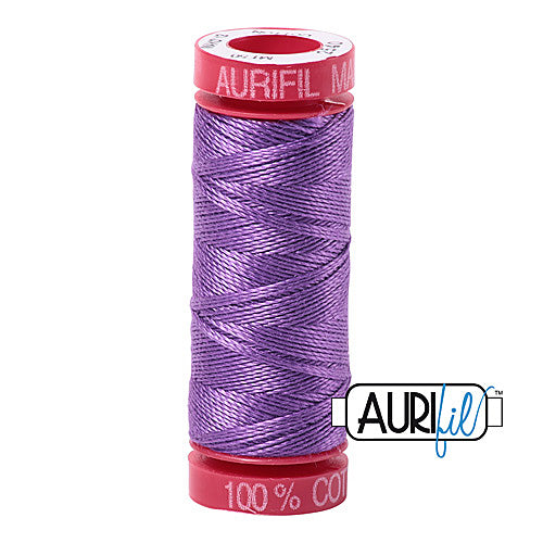 Aurifil Mako 12wt Cotton 50 m (54 yd.) spool - 2540 Medium Lavender<br><font color = red>Please note, that this colour in this size is not available in-store, but will be ordered for you.</font>