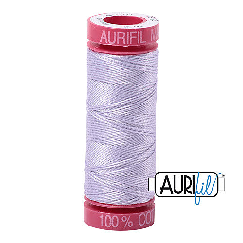 Aurifil Mako 12wt Cotton 50 m (54 yd.) spool - 2560 Iris<br><font color = red>Please note, that this colour in this size is not available in-store, but will be ordered for you.</font>