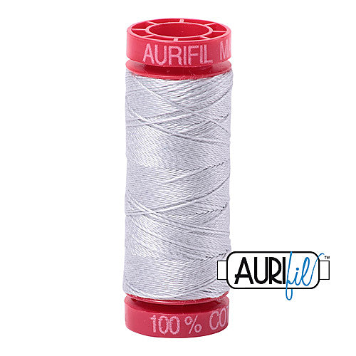 Aurifil Mako 12wt Cotton 50 m (54 yd.) spool - 2600 Dove<br><font color = red>Please note, that this colour in this size is not available in-store, but will be ordered for you.</font>