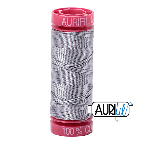 Aurifil Mako 12wt Cotton 50 m (54 yd.) spool - 2606 Mist<br><font color = red>Please note, that this colour in this size is not available in-store, but will be ordered for you.</font>