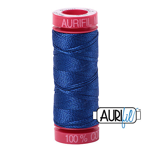 Aurifil Mako 12wt Cotton 50 m (54 yd.) spool - 2740 Dark Cobalt<br><font color = red>Please note, that this colour in this size is not available in-store, but will be ordered for you.</font>