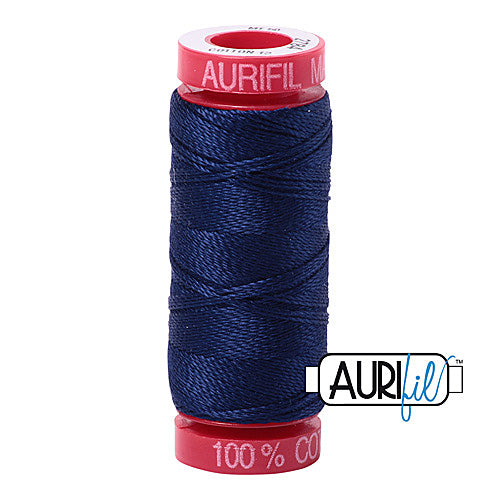 Aurifil Mako 12wt Cotton 50 m (54 yd.) spool - 2784 Dark Navy<br><font color = red>Please note, that this colour in this size is not available in-store, but will be ordered for you.</font>