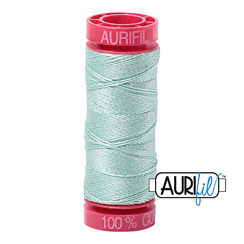 Aurifil Mako 12wt Cotton 50 m (54 yd.) spool - 2830 Mint<br><font color = red>Please note, that this colour in this size is not available in-store, but will be ordered for you.</font>