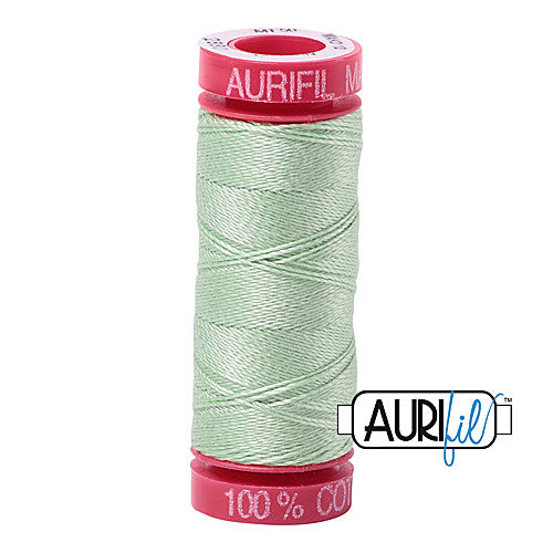 Aurifil Mako 12wt Cotton 50 m (54 yd.) spool - 2880 Pale Green<br><font color = red>Please note, that this colour in this size is not available in-store, but will be ordered for you.</font>