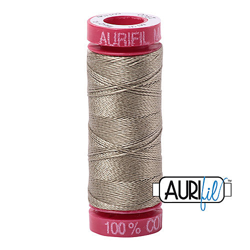 Aurifil Mako 12wt Cotton 50 m (54 yd.) spool - 2900 Light Kakhy Green<br><font color = red>Please note, that this colour in this size is not available in-store, but will be ordered for you.</font>