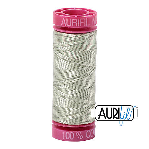 Aurifil Mako 12wt Cotton 50 m (54 yd.) spool - 2908 Spearmint<br><font color = red>Please note, that this colour in this size is not available in-store, but will be ordered for you.</font>