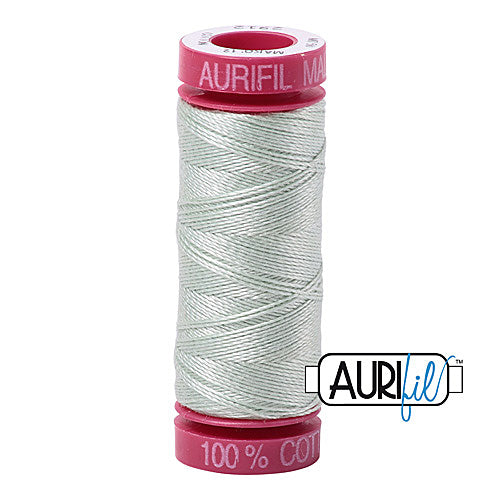 Aurifil Mako 12wt Cotton 50 m (54 yd.) spool - 2912 Platinum<br><font color = red>Please note, that this colour in this size is not available in-store, but will be ordered for you.</font>