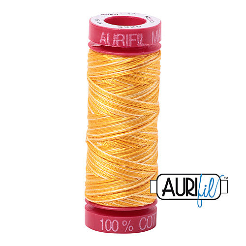 Aurifil Mako 12wt Cotton 50 m (54 yd.) spool - 3920 Golden Glow<br><font color = red>Please note, that this colour in this size is not available in-store, but will be ordered for you.</font>