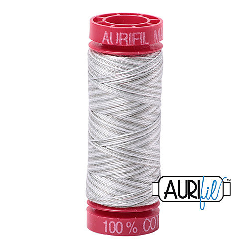 Aurifil Mako 12wt Cotton 50 m (54 yd.) spool - 4060 Silver Moon<br><font color = red>Please note, that this colour in this size is not available in-store, but will be ordered for you.</font>