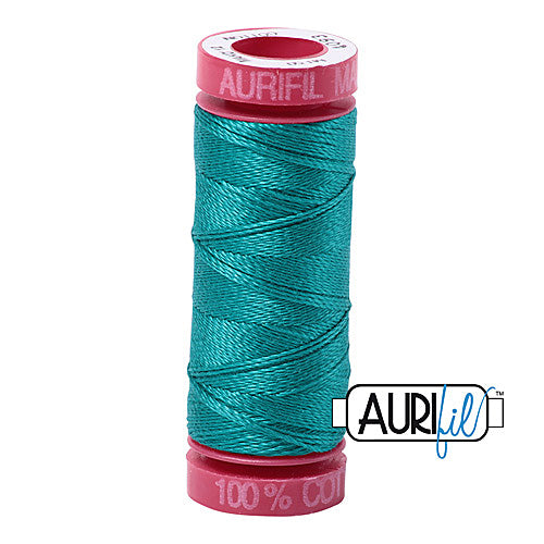 Aurifil Mako 12wt Cotton 50 m (54 yd.) spool - 4093 Jade<br><font color = red>Please note, that this colour in this size is not available in-store, but will be ordered for you.</font>