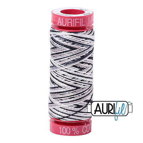 Aurifil Mako 12wt Cotton 50 m (54 yd.) spool - 4652 Licorice Twist<br><font color = red>Please note, that this colour in this size is not available in-store, but will be ordered for you.</font>
