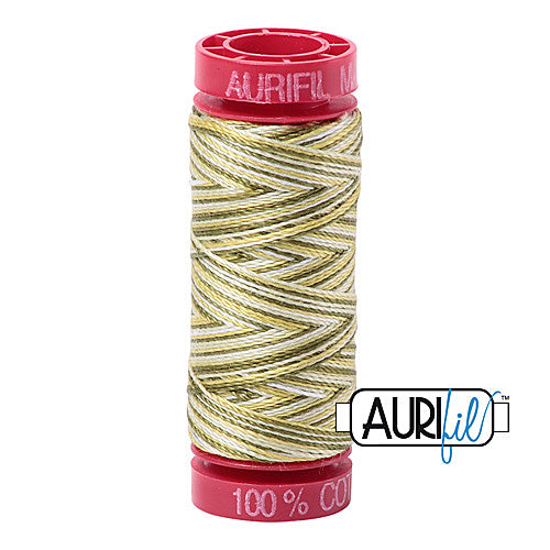 Aurifil Mako 12wt Cotton 50 m (54 yd.) spool - 4653 Spring Prairie<br><font color = red>Please note, that this colour in this size is not available in-store, but will be ordered for you.</font>