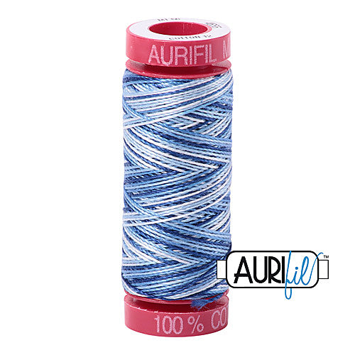 Aurifil Mako 12wt Cotton 50 m (54 yd.) spool - 4655 Storm at Sea<br><font color = red>Please note, that this colour in this size is not available in-store, but will be ordered for you.</font>