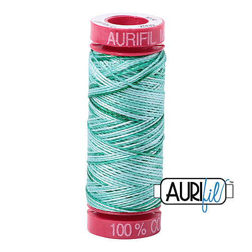Aurifil Mako 12wt Cotton 50 m (54 yd.) spool - 4662 Creme de Menthe<br><font color = red>Please note, that this colour in this size is not available in-store, but will be ordered for you.</font>