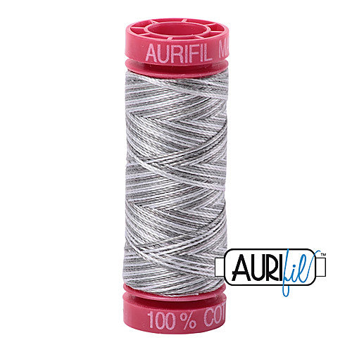 Aurifil Mako 12wt Cotton 50 m (54 yd.) spool - 4670 Silver Fox<br><font color = red>Please note, that this colour in this size is not available in-store, but will be ordered for you.</font>