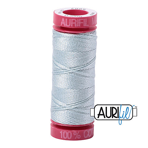 Aurifil Mako 12wt Cotton 50 m (54 yd.) spool - 5007 Light Grey Blue<br><font color = red>Please note, that this colour in this size is not available in-store, but will be ordered for you.</font>