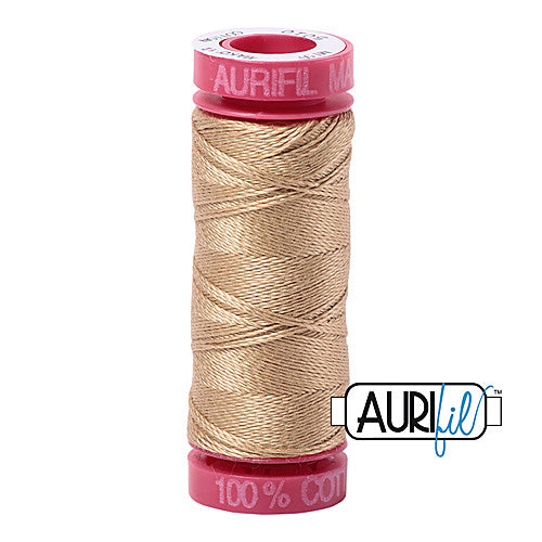 Aurifil Mako 12wt Cotton 50 m (54 yd.) spool - 5010 Blonde Beige<br><font color = red>Please note, that this colour in this size is not available in-store, but will be ordered for you.</font>