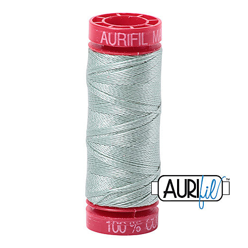 Aurifil Mako 12wt Cotton 50 m (54 yd.) spool - 5014 Marine Water<br><font color = red>Please note, that this colour in this size is not available in-store, but will be ordered for you.</font>