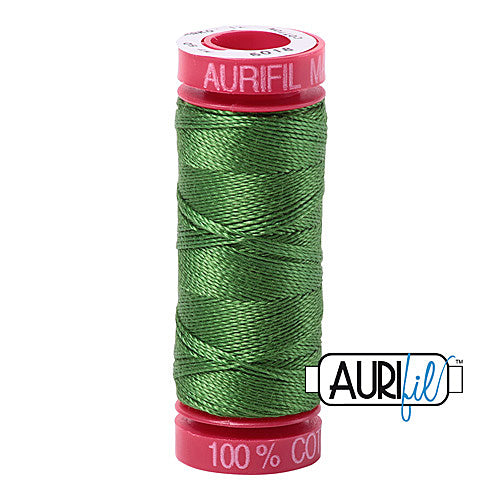 Aurifil Mako 12wt Cotton 50 m (54 yd.) spool - 5018 Dark Grass Green