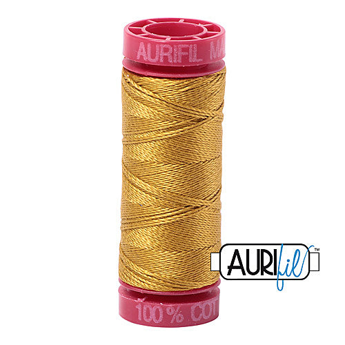 Aurifil Mako 12wt Cotton 50 m (54 yd.) spool - 5022 Mustard<br><font color = red>Please note, that this colour in this size is not available in-store, but will be ordered for you.</font>
