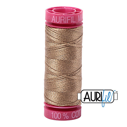 Aurifil Mako 12wt Cotton 50 m (54 yd.) spool - 6010 Toast<br><font color = red>Please note, that this colour in this size is not available in-store, but will be ordered for you.</font>