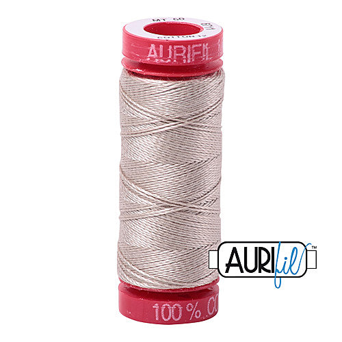 Aurifil Mako 12wt Cotton 50 m (54 yd.) spool - 6711 Pewter<br><font color = red>Please note, that this colour in this size is not available in-store, but will be ordered for you.</font>
