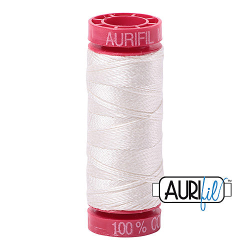 Aurifil Mako 12wt Cotton 50 m (54 yd.) spool - 6722 Sea Bisquit<br><font color = red>Please note, that this colour in this size is not available in-store, but will be ordered for you.</font>