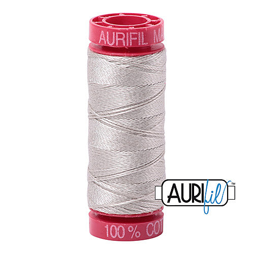 Aurifil Mako 12wt Cotton 50 m (54 yd.) spool - 6724 Moonshine<br><font color = red>Please note, that this colour in this size is not available in-store, but will be ordered for you.</font>