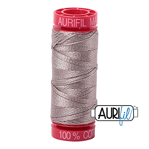 Aurifil Mako 12wt Cotton 50 m (54 yd.) spool - 6730 Steampunk<br><font color = red>Please note, that this colour in this size is not available in-store, but will be ordered for you.</font>