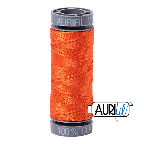 Aurifil Mako 28wt Cotton 100 m (109 yd.) spool - 1104 Neon Orange<br><font color = red>Please note, this item is not available in-store, but will be ordered for you.</font>