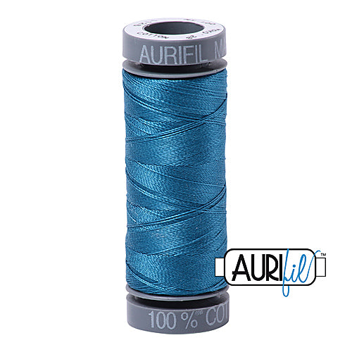 Aurifil Mako 28wt Cotton 100 m (109 yd.) spool - 1125 Medium Teal<br><font color = red>Please note, this item is not available in-store, but will be ordered for you.</font>