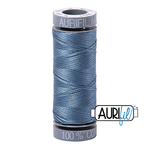 Aurifil Mako 28wt Cotton 100 m (109 yd.) spool - 1126 Blue Grey<br><font color = red>Please note, this item is not available in-store, but will be ordered for you.</font>