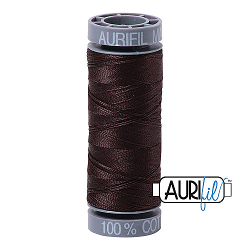 Aurifil Mako 28wt Cotton 100 m (109 yd.) spool - 1130 Very Dark Bark<br><font color = red>Please note, this item is not available in-store, but will be ordered for you.</font>