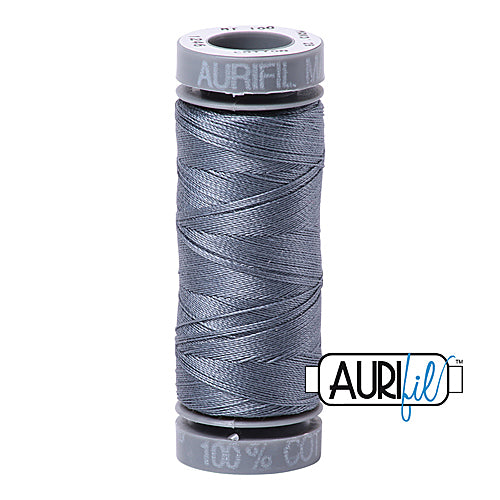 Aurifil Mako 28wt Cotton 100 m (109 yd.) spool - 1246 Dark Grey<br><font color = red>Please note, this item is not available in-store, but will be ordered for you.</font>