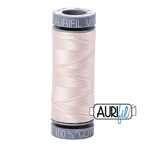Aurifil Mako 28wt Cotton 100 m (109 yd.) spool - 2000 Light Sand<br><font color = red>Please note, this item is not available in-store, but will be ordered for you.</font>