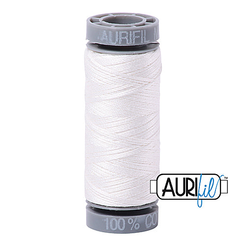 Aurifil Mako 28wt Cotton 100 m (109 yd.) spool - 2021 Natural White<br><font color = red>Please note, this item is not available in-store, but will be ordered for you.</font>