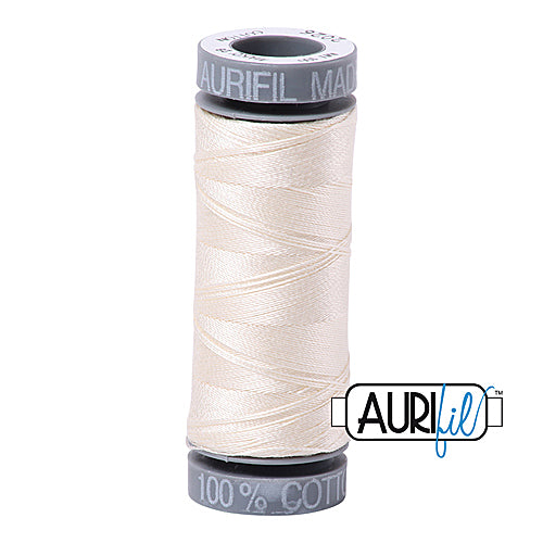 Aurifil Mako 28wt Cotton 100 m (109 yd.) spool - 2026 Chalk<br><font color = red>Please note, this item is not available in-store, but will be ordered for you.</font>