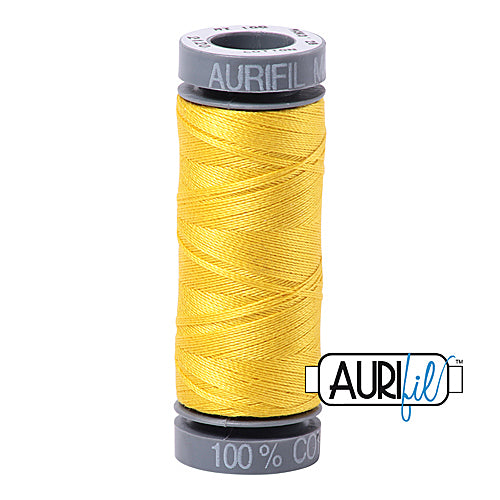 Aurifil Mako 28wt Cotton 100 m (109 yd.) spool - 2120 Canary<br><font color = red>Please note, this item is not available in-store, but will be ordered for you.</font>