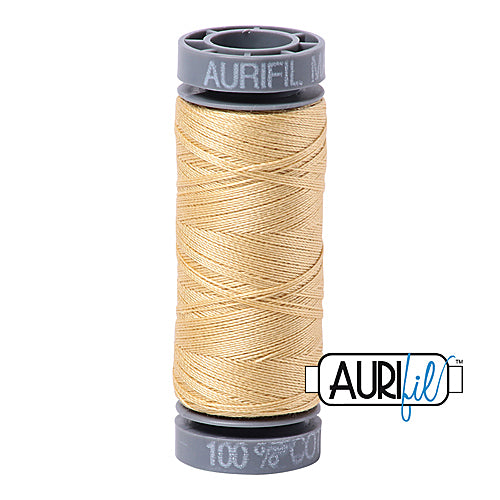 Aurifil Mako 28wt Cotton 100 m (109 yd.) spool - 2125 Wheat<br><font color = red>Please note, this item is not available in-store, but will be ordered for you.</font>