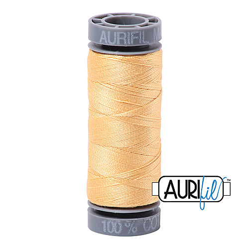 Aurifil Mako 28wt Cotton 100 m (109 yd.) spool - 2130 Medium Butter<br><font color = red>Please note, this item is not available in-store, but will be ordered for you.</font>
