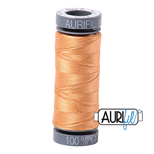 Aurifil Mako 28wt Cotton 100 m (109 yd.) spool - 2214 Golden Honey<br><font color = red>Please note, this item is not available in-store, but will be ordered for you.</font>