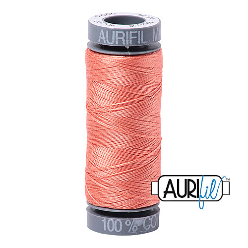 Aurifil Mako 28wt Cotton 100 m (109 yd.) spool - 2220 Light Salmon<br><font color = red>Please note, this item is not available in-store, but will be ordered for you.</font>