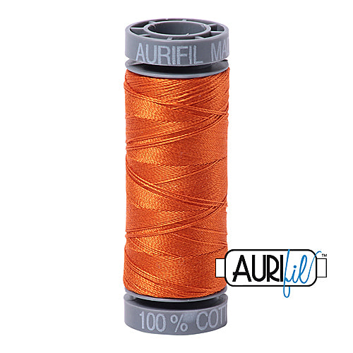 Aurifil Mako 28wt Cotton 100 m (109 yd.) spool - 2235 Orange<br><font color = red>Please note, this item is not available in-store, but will be ordered for you.</font>