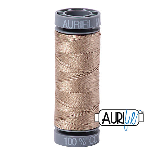 Aurifil Mako 28wt Cotton 100 m (109 yd.) spool - 2325 Linen<br><font color = red>Please note, this item is not available in-store, but will be ordered for you.</font>