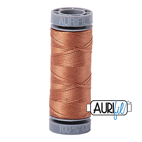 Aurifil Mako 28wt Cotton 100 m (109 yd.) spool - 2330 Light Chestnut<br><font color = red>Please note, this item is not available in-store, but will be ordered for you.</font>