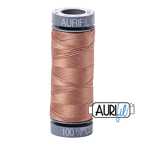 Aurifil Mako 28wt Cotton 100 m (109 yd.) spool - 2340 CafÈ au Lait<br><font color = red>Please note, this item is not available in-store, but will be ordered for you.</font>