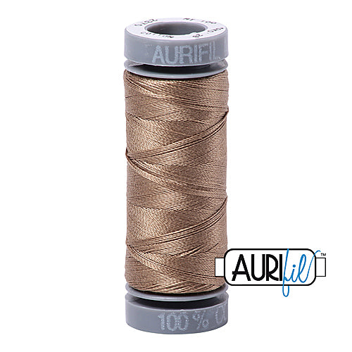 Aurifil Mako 28wt Cotton 100 m (109 yd.) spool - 2370 Sandstone<br><font color = red>Please note, this item is not available in-store, but will be ordered for you.</font>